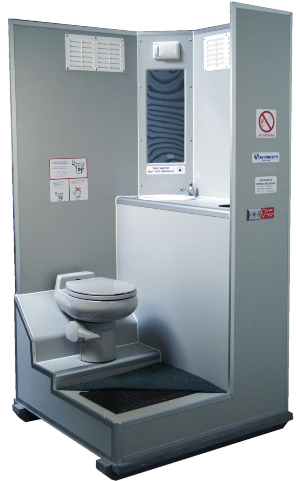 Attractive VIP Portable Restroom Cutaway